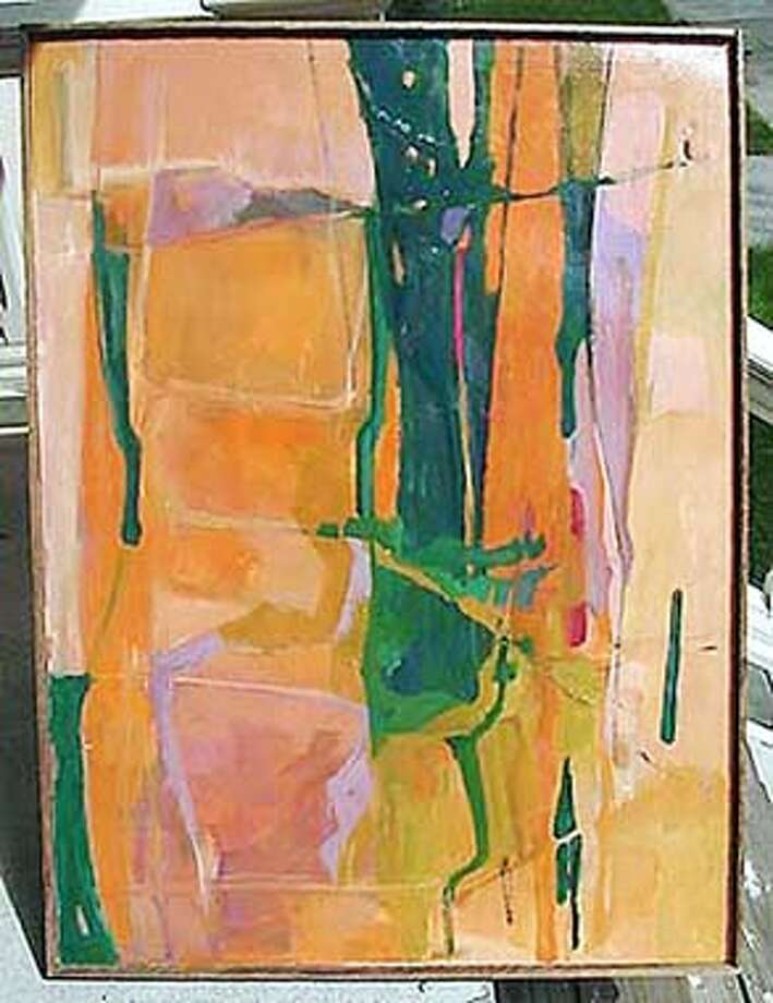Painting being auctioned on eBay believed to be by famous artist Richard Diebenkorn. ALSO RAN 5/11/00, 08/31/2000