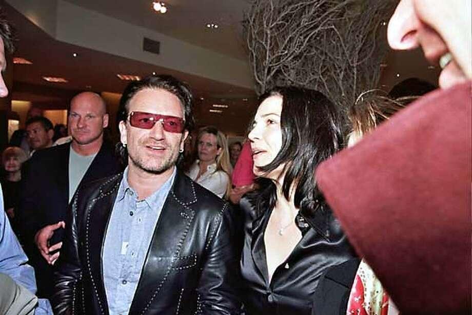 Bono and Ali Hewson at the SAKS Edun launch