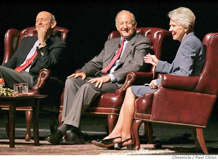 The Stanford Law School hosted a panel discussion featuring, from left, US Supreme Court Justice Stephen Breyer, California Supreme Court Chief Justice Ronald George and Ninth Circuit judge Pamela Rymer on 10/23/04 in Stanford, CA. PAUL CHINN/The Chronicle Photo: PAUL CHINN