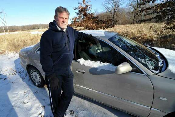 """Chris Jenks, who became homeless after a successful career and even lived in his car for a time, says, """"I'm on food stamps because it's either that or I die."""""""