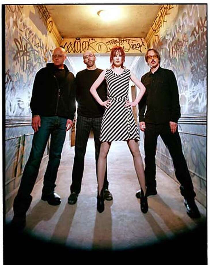 GARBAGE are left to right: Steve Marker, Duke Erikson, Shirley Manson and Butch Vig. HANDOUT/ HANDOUT Photo: HANDOUT