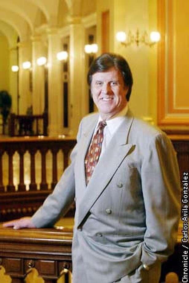 SOUTH03-C-21JAN02-IN-CG --- Garry South, political advisor to California Governor Gray Davis in the Capitol Building in Sacramento on Monday, January 21, 2002  (CARLOS AVILA GONZALEZ/SAN FRANCISCO CHRONICLE) ALSO RAN 2/3/02, 5/5/02
