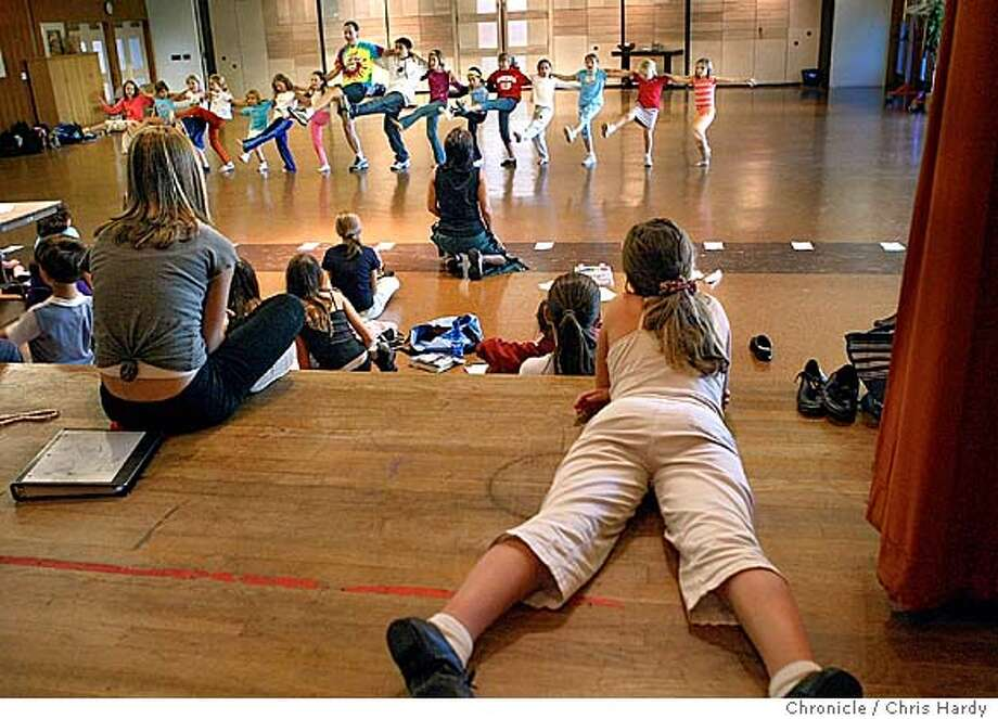 The Pied Piper Players, a kids theater group that helps children get more involved in loving theater. The group goes out to schools , like this one at temple Beth El, to get more kids involved. this is a rehearsal. at San Mateo,CA on 10/10/04  San Francisco Chronicle/Chris Hardy Photo: Chris Hardy