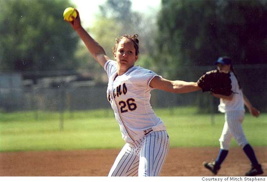 Photo of softball pitcher Valerie Arioto from Foothill High in Pleasanton. This is for Saturday feature in Sporting Green. Photo: Courtesy of Mitch Stephens Photo: Courtesy Of Mitch Stephens