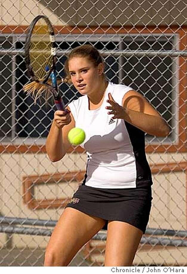 Monte Vista High School. 21840 McClellan rd. Cupertino,CA.  CarmenSeremeta, top tennis player in USTA ranking in northern Calif., junior play  photo/John O'hara Photo: John O'Hara