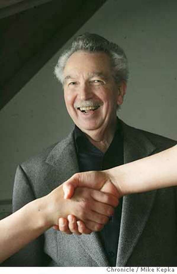 Bob Brown is the author of a new book that seaches the meaning of your handshake. 4/7/05 Mike Kepka / The Chronicle Photo: Mike Kepka