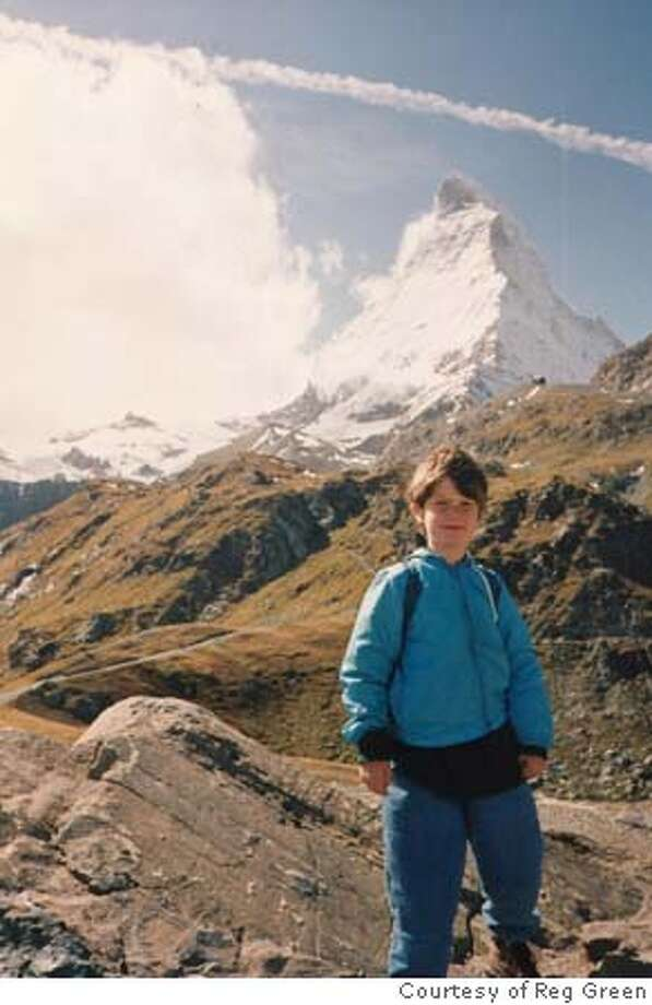 Nicholas Green at the Matterhorn, not long before his death. Photo courtesy of Reg Green. Metro#Metro#Chronicle#10/21/2004#ALL#5star##422078032