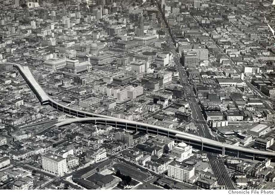 San Francisco's central freeway.