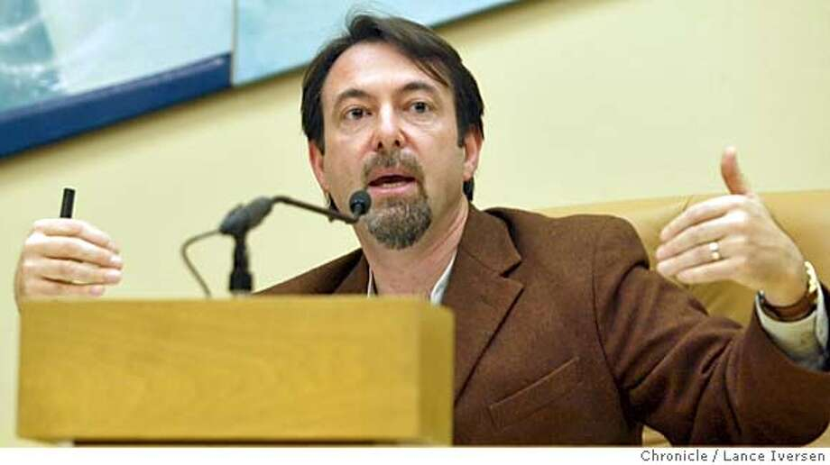 CCTRAIN042_LI.JPG event on 3/27/04 in RICHMOND CC Supervisor John Gioia address the Richmond audience Saturday. Throughout the nation residents of cities and towns complain about being drowned in the whine of railway trains with such regularity that the Federal Railroad Administration plans to let cities ban whistles as long as they add or improve safety devices at crossings.  In Richmond, residents are meeting to address what they say is a rising tide of train horns. By Lance Iversen/The San Francisco Chronicle MANDATORY CREDIT FOR PHOTOG AND SF CHRONICLE/ -MAGS OUT-WIRES SERVICES OUT/GARY FONG Metro#Metro#Chronicle#10/20/2004#ALL#5star#b5#0421699583 Photo: Lance Iversen