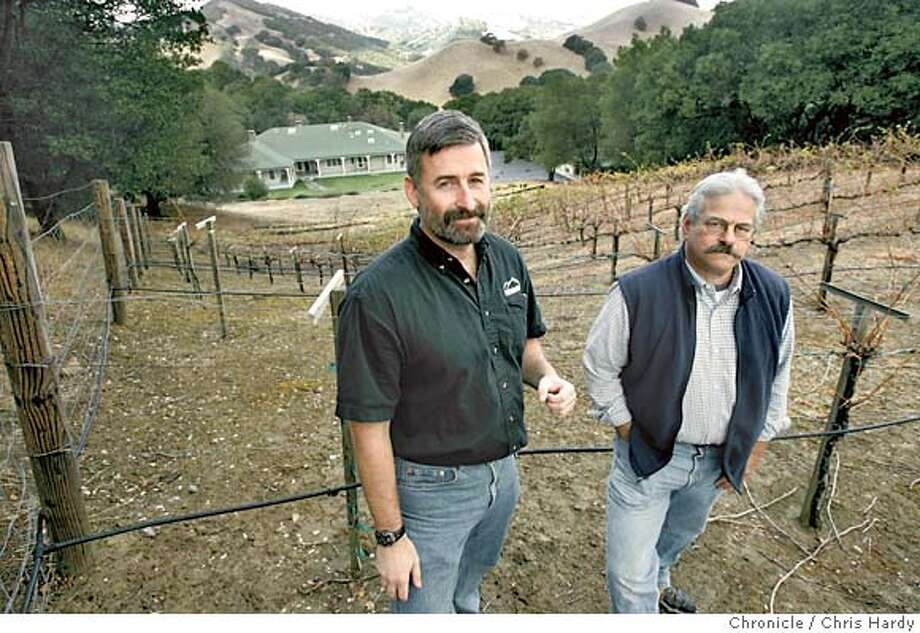 Seth Adams and Ronald Brown of Save Mount Diablo, an environmental group that has worked to expand mt. diablo state park, is acquiring an easement over a 260-acre area called Riggs Canyon. . Danville,CA on 10/18/04  San Francisco Chronicle/Chris Hardy Photo: Chris Hardy