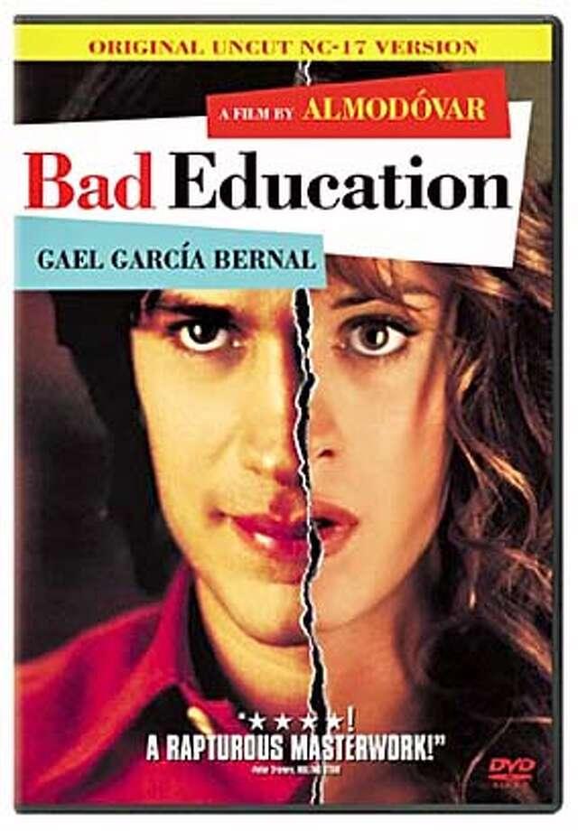 "DVD cover art for, ""Bad Education"" on DVD."