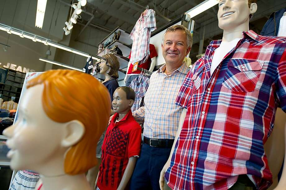 Tom Wyatt, president of Old Navy poses for a photograph at the Gap Inc. Old Navy store in San Mateo, California, U.S., on Wednesday, June 29, 2011. Old Navy's revamped stores have helped the retailer boost sales after years of declines.  Photographer: David Paul Morris/Bloomberg *** Local Caption *** Tom Wyatt Photo: David Paul Morris, Bloomberg