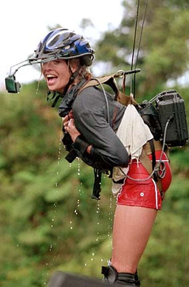 """Supermodel Frederique takes to the air tonight in ABC's reality show """"Celebrity Mole Hawaii.''"""