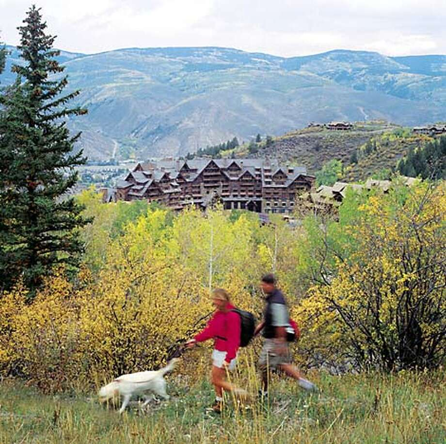 TRAVEL DOGBORROW -- Bachelor the dog can be borrowed by guests of the Ritz-Carlton Bachelor Gulch for hikes or snowshoe outings. Travel#Travel#Chronicle#10/17/2004#ALL#Advance##0422395291
