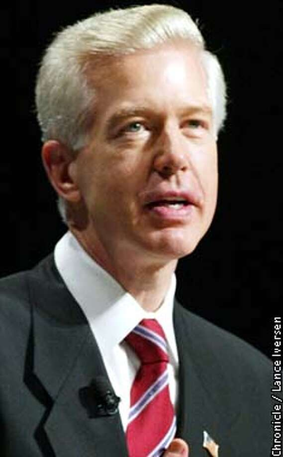 DAVIS10-C-06JAN03-MT-LI  Gray Davis delivers his inauguration speech after he was sworn in for a second four year team as California's Gov monday at the Sacramento Memorial Auditorium. By LANCE IVERSEN/SAN FRANCISCO CHRONICLE