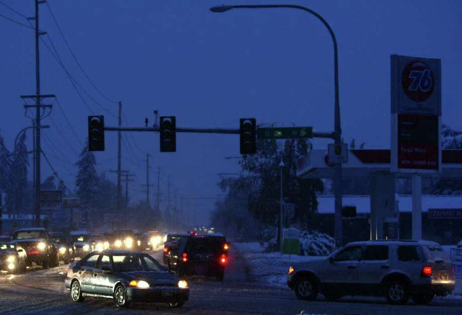 Power is out in large areas of Auburn on Thursday, January 19, 2012. An ice storm wreaked havoc in the area, bringing down trees and power lines. Power was out to hundreds of thousands of customers. Photo: JOSHUA TRUJILLO / SEATTLEPI.COM