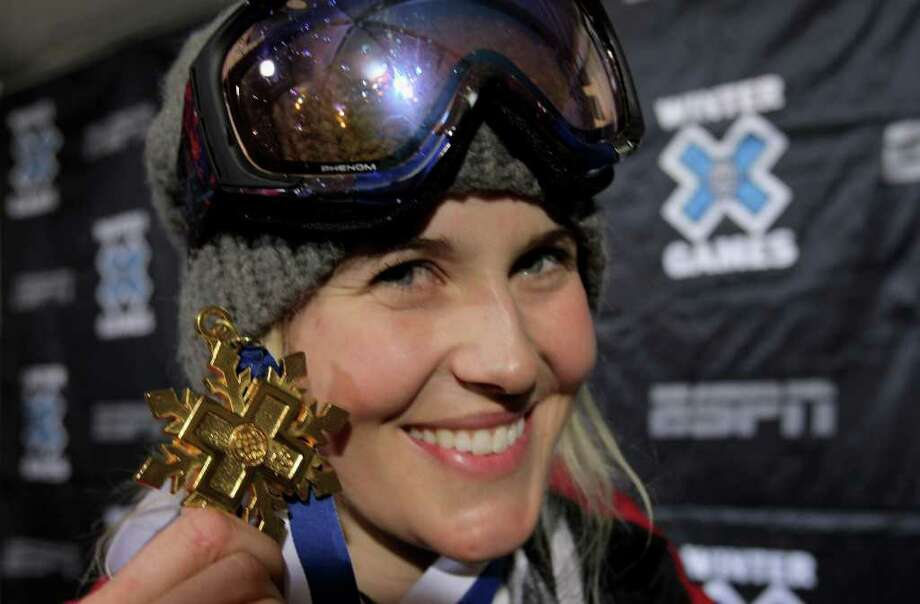 Sarah Burke, a four-time Winter X Games champion, helped get superpipe into the Olympics. Photo: Doug Pensinger / 2009 Getty Images