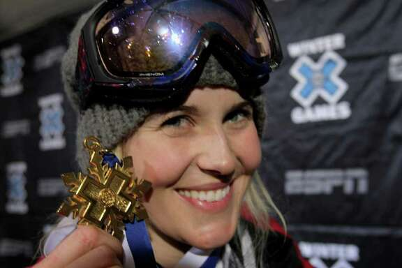 Sarah Burke, a four-time Winter X Games champion, helped get superpipe into the Olympics.