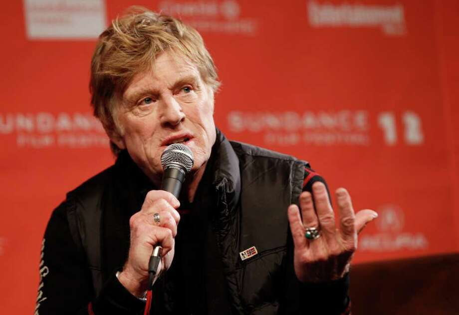 "Sundance founder Robert Redford says the entries in this year's Sundance Film Festival reflect hard times and ""suffering from a government that's in paralysis."" Photo: Danny Moloshok / R-MOLOSHOK"