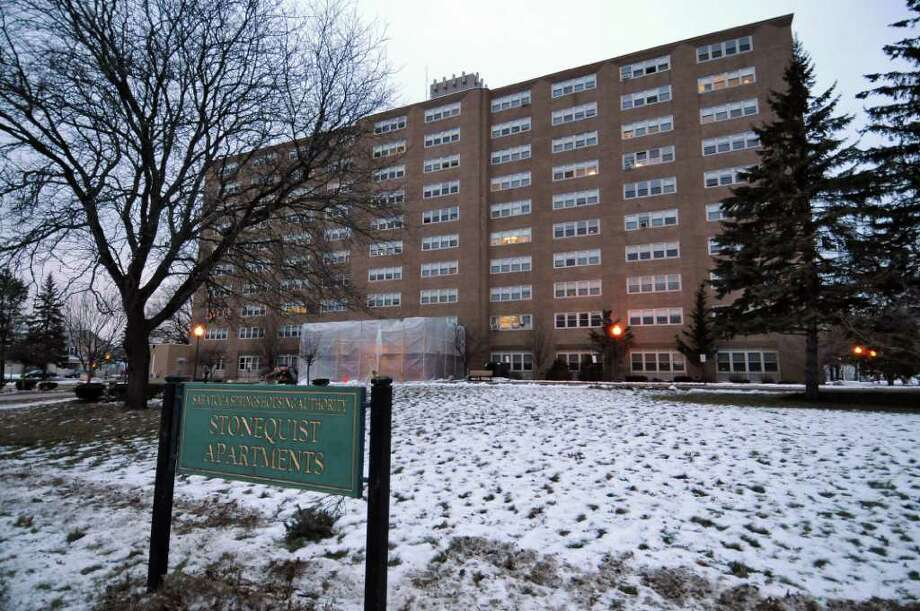 View of the Stonequist Apartments, seen here on Thursday Jan. 19, 2012 in Saratoga Springs, NY.  (Philip Kamrass / Times Union archive) Photo: Philip Kamrass / 00016165A