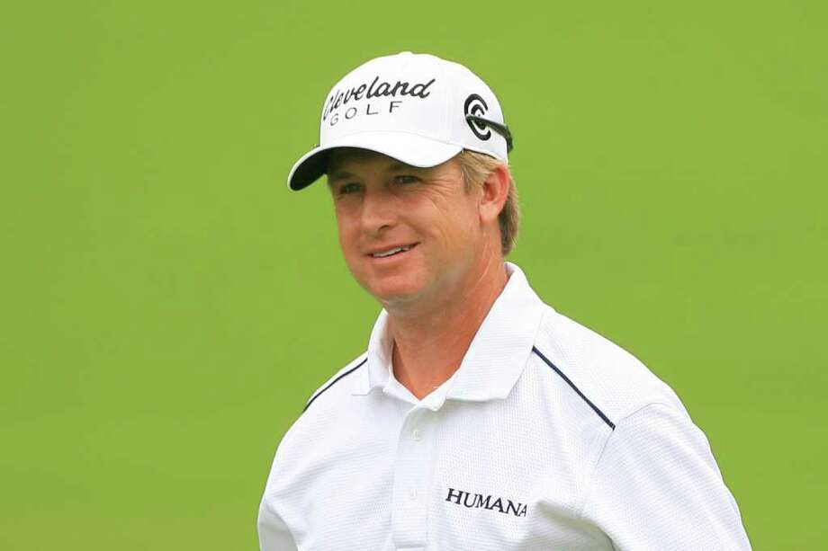 FT. WORTH, TX - MAY 19: David Toms smiles after making birdie on the ninth hole during the first round of the Crowne Plaza Invitational at Colonial Country Club on May 19, 2011 in Ft. Worth, Texas. (Photo by Hunter Martin/Getty Images) Photo: Hunter Martin / 2011 Getty Images