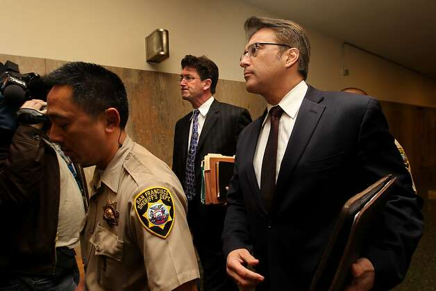 San Francisco Sheriff Ross Mirkarimi walks through the halls of the Hall of Justice, Thursday January 20, 2012, for his arraignment in San Francisco, Calif. Ross entered three not- guilty  pleas to charges of domestic violence battery, child endangerment and dissuading a witness in connection with a New Year's Eve incident with his wife Eliana Lopez. Photo: Lacy Atkins, The Chronicle