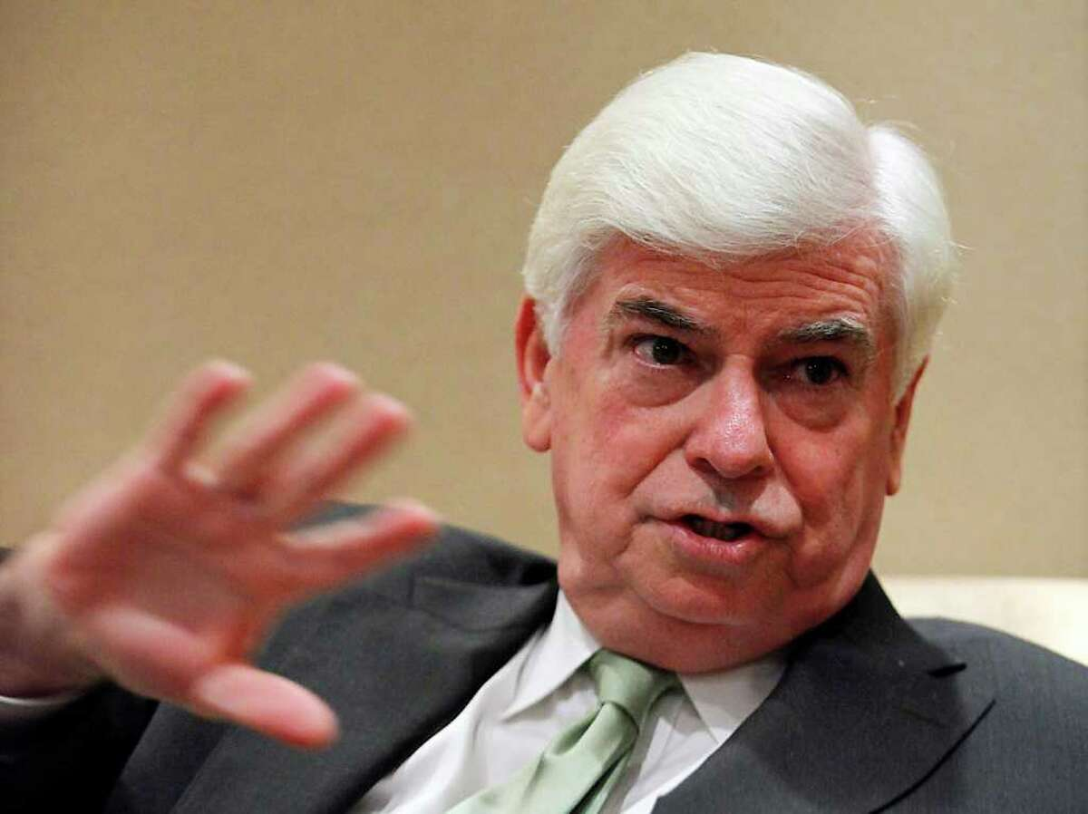 Former U.S. Sen. Chris Dodd, chairman and CEO of the Motion Picture Association of America, speaks during an interview June 13, 2011 in Shanghai, China. (AP Photo/Eugene Hoshiko)