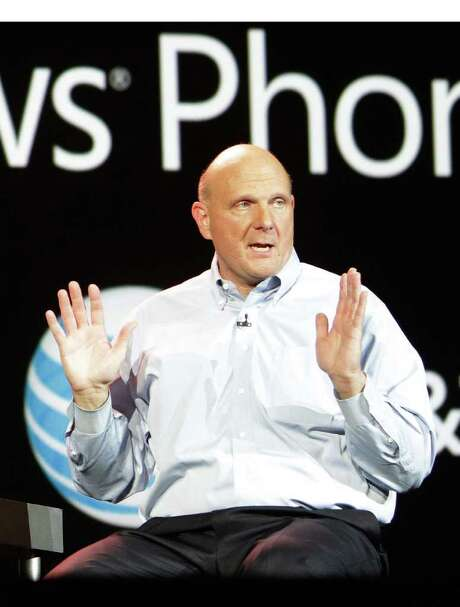 Microsoft CEO Steve Ballmer addresses the crowd during his final CES keynote in Las Vegas, NV., at this year's show, January 9, 2012.  (PRNewsFoto/Microsoft Corp.) / MICROSOFT CORP.
