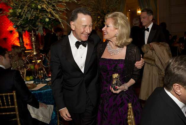 Carl Pascarella and Dede Wilsey prepare to sit down to dinner during the San Francisco Ballet Opening Night Gala at City Hall in San Francisco, Calif., on Thursday, January 19, 2012. Photo: Laura Morton, Special To The Chronicle