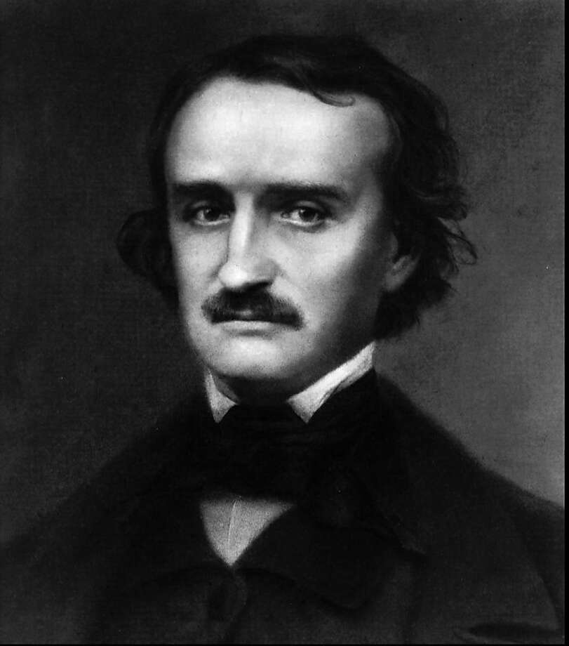 "FILE - This undated file photo shows Edgar Allan Poe. Fans of the writer plan one last vigil for the mysterious ""Poe Toaster,"" who for decades has left three roses and a half-empty bottle of cognac at Poe's grave on the anniversary of his birth. But no one has appeared for the last two years, and Poe House and Museum Curator Jeff Jerome says he'll wait one last time for the Toaster before calling an end to the tradition. (AP Photo/File) Photo: Associated Press"