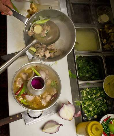 Spareribs soup being prepared in the kitchen of Lers Ros. Photo: John Storey, Special To The Chronicle