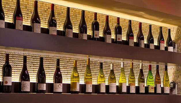 Wines on display at  Lers Ros restaurant in Hayes Valley. Photo: John Storey, Special To The Chronicle