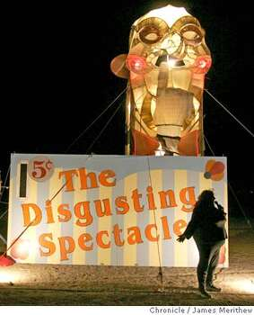 The disgusting spectacle is up and working on the Playa during 2005 Burning Man.  Photo: Jim Merithew