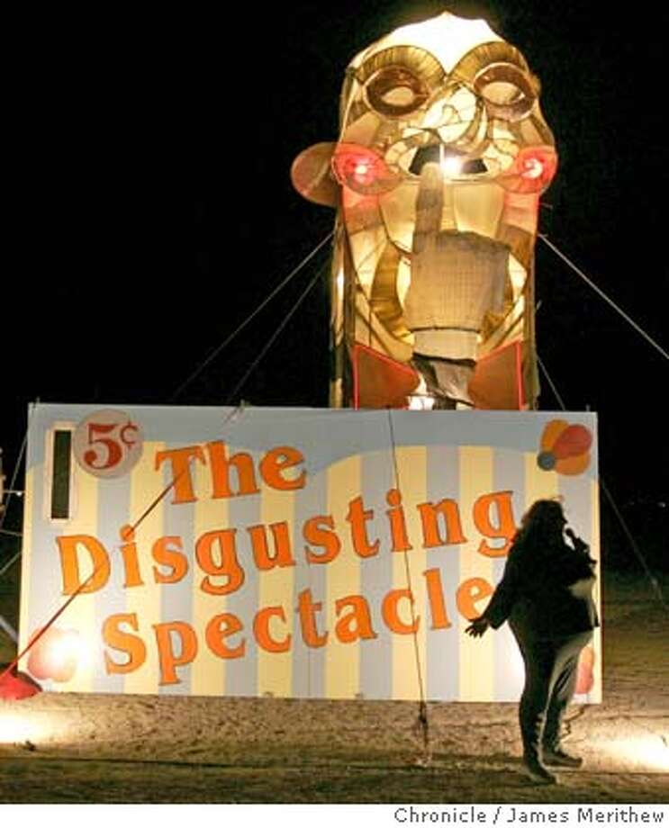 The disgusting spectacle is up and working on the playa. Event on 8/30/05 in Black Rock City. Jim Merithew / The Chronicle Photo: Jim Merithew