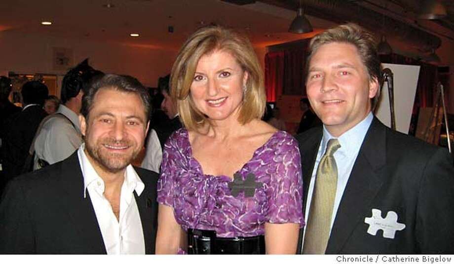 XPRIZE.JPG  Google co-founder Larry Page hosted a benefit for the X-Prize Foundation at Google HQ in Mountain View. From left: X-Prize founder Peter Diamandis, Arianna Huffington and Lane Soelberg of the foundation.  CATHERINE BIGELOW / The Chronicle Photo: Catherine Bigelow