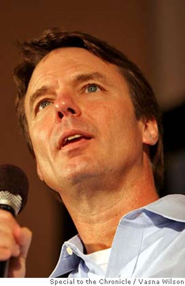Berkeley, CA - Senator John Edwards holds a rally at the Berkeley YWCA as part of his College Tour to get young people involved in his campaign to transform America, Sunday, March 4, 2007. Edwards holds his event at the YWCA instead of the University of California at Berkeley to express his solidarity with the workers at the University of California at Berkeley, who have been struggling for fair wages. (Vasna Wilson/Special to the Chronicle) Mantory credit for photographer. San Francisco Chronicle. No sales. Magazine out. Photo: Vasna Wilson