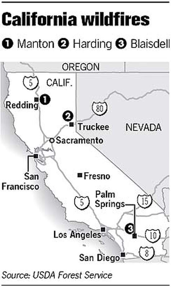 California Wildfires. Chronicle Graphic