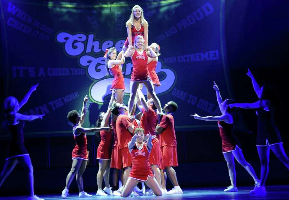 The touring production of Bring It On, which is based on the 2000 movie of the same name, includes real cheerleaders performing actual routines. / handout