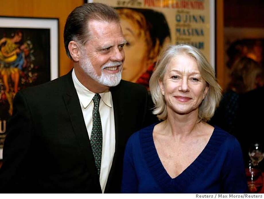 Taylor Hackford and Helen Mirren mingle at the 79th Academy Awards-Nominated Shorts Reception in Los Angeles, California February 20, 2007. The Oscars will be presented on Sunday, February 25. REUTERS/Max Morse (UNITED STATES) Photo: MAX MORSE