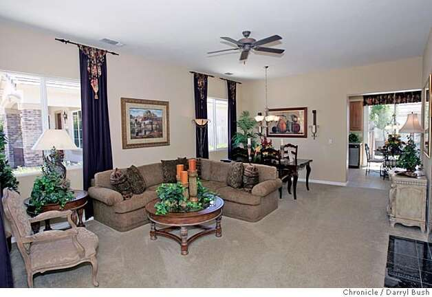Model home suisun city peterson ranch home is where for Living room and dining room together