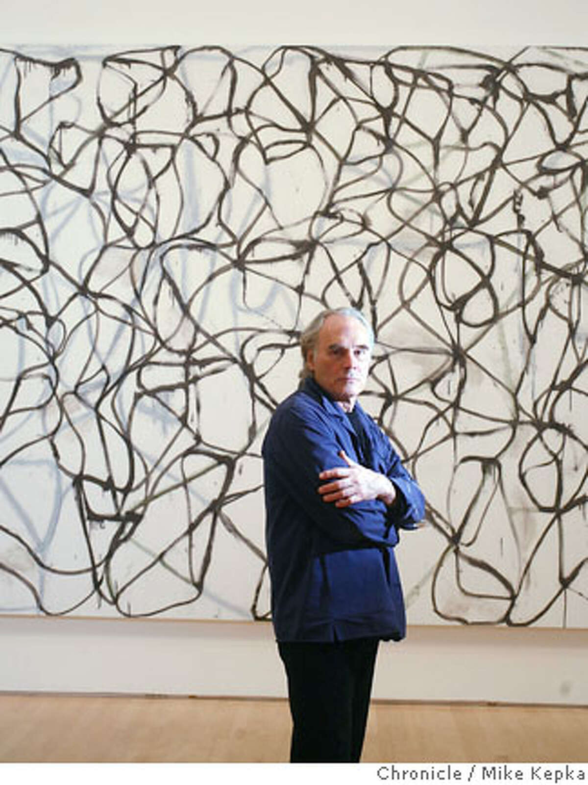 bricemarden0400036_mk.JPG New York artist Brice Marden has a new show opening at SFMOMA this week. 2/21/07. Mike Kepka / The Chronicle Brice Marden (cq) the source MANDATORY CREDIT FOR PHOTOG AND SF CHRONICLE/NO SALES-MAGS OUT