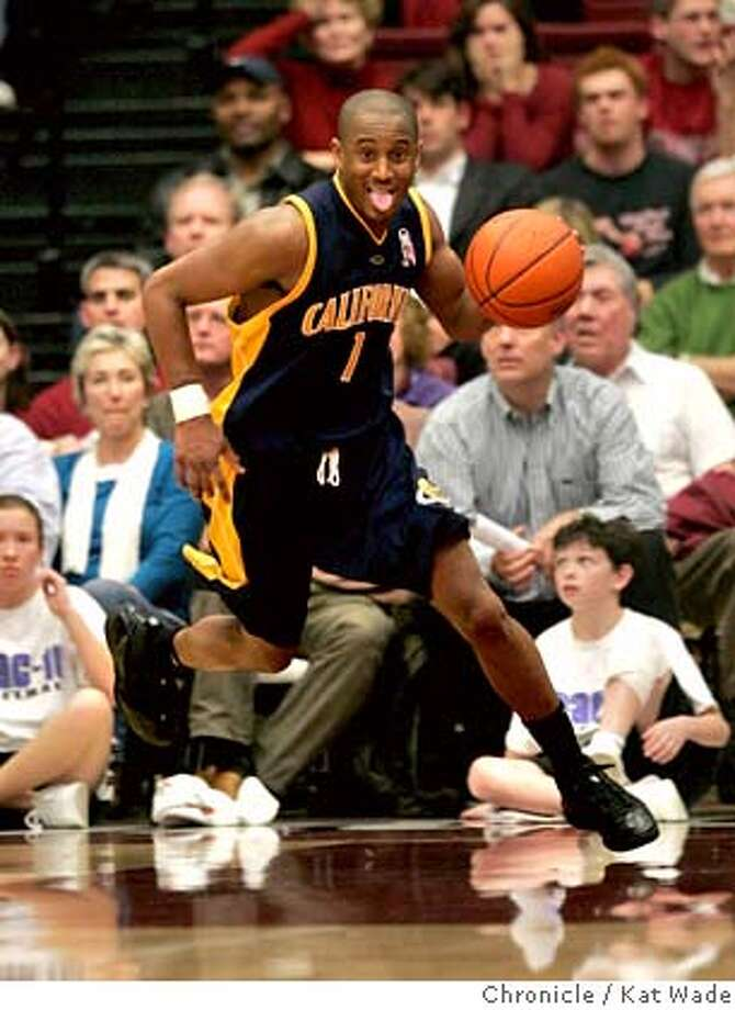 CAL_STANFORD_2_0477_KW_.jpg  Cal State Golden Bear's high scorer (26 points) Ayinde Ubaka drives towards the basket during the second period of the game against the Stanford Cardinals during the Pac 10 Conference Game at Stanford University in the Maples Pavilion in Palo Alto on January 3, 2007. Kat Wade/The Chronicle Mandatory Credit for San Francisco Chronicle and photographer, Kat Wade, No Sales Mags out Photo: Kat Wade