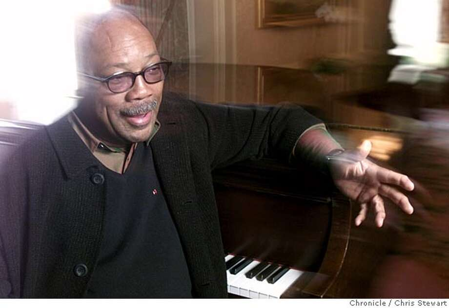 JONES17B-C-15NOV01-PK-CS Quincy Jones, the noted musician, composer and arranger now has a new autobiography. He was photographed at the Ritz-Carlton Hotel in SF. SAN FRANCISCO CHRONICLE PHOTO BY CHRIS STEWART NORTHERN CALIFORNIA MANDATORY CREDIT: PHOTOG AND SF CHRONICLE/ , MAGS OUT Photo: CHRIS STEWART