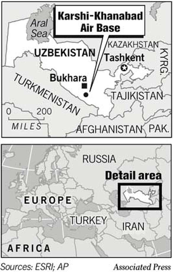 Uzbekistan. Associated Press Graphic