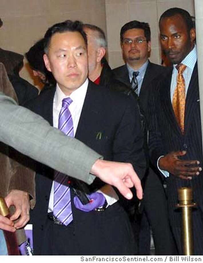 The city attorney has sought a restraining order against Han Sup Shin, 42. The Union City man has been showing increasingly bizarre behavior at the mayor's public events. SanFranciscoSentinel.com photo by Bill Wilson
