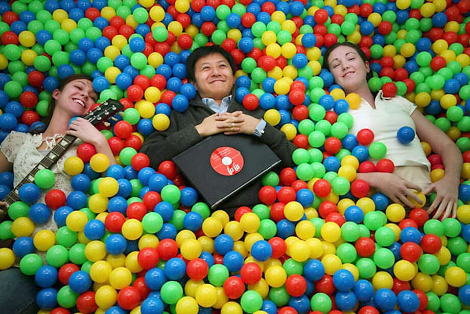 lala.com's (l to r) Lindsey Price, Megan Streich and Bill Nguyen. no photo credit, far as I know Photo: Lala.com