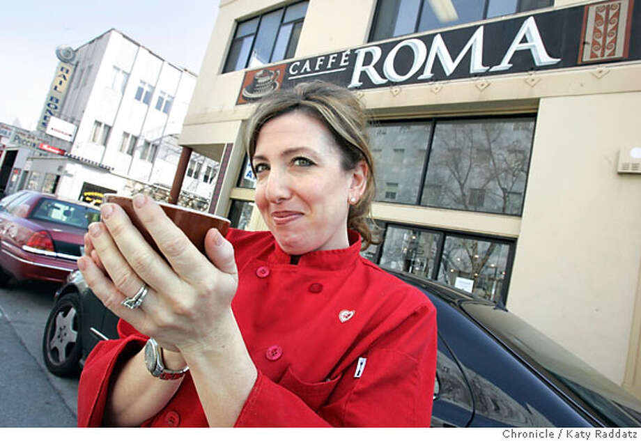 .jpg SHOWN: Irene Azzolini is the owner and manager of Cafe Roma at 885 Bryant St., right across the street from the Hall of Justice, and in among divey bars and bail bonds establishments. For Bonnie Wach's Today's Special column These pictures were made on Wednesday, Feb. 14, 2007, in San Francisco, CA. (Katy Raddatz/SF Chronicle) **Irene Azzolini Mandatory credit for the photographer and the San Francisco Chronicle. No sales; mags out. Photo: Katy Raddatz