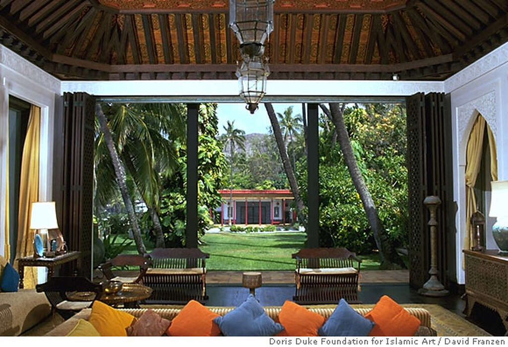 TRAVEL HAWAII SHANGRI LA The Living Room Window Disappears To Let In Fresh Air At Doris