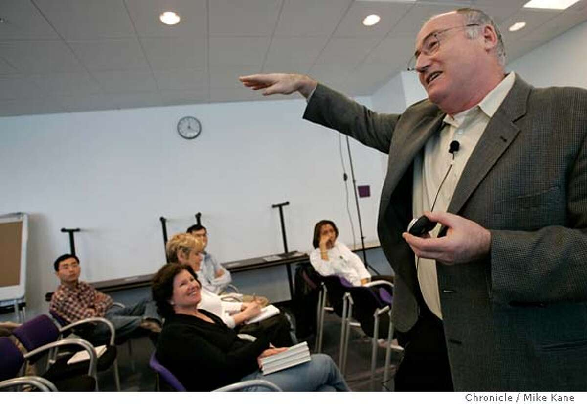 ASSHOLE23_160_MBK Stanford engineering professor and organizational psychologist Robert Sutton speaks to a group gathered at Yahoo about his new book,