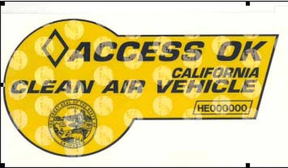 Graphic of DMV Hybrid Vehicle decal. Photo: DMV